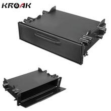 Kroak Универсальный Одиночный Din CD плеер тире/Радио стерео Универсальный Автомобильный хранения для карманной коробки отделка комплект