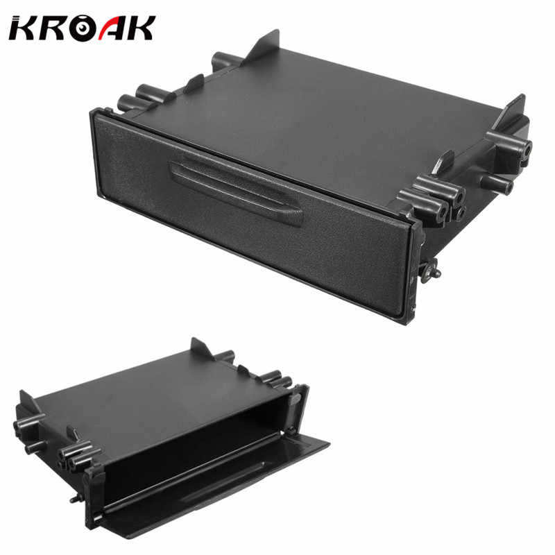 Kroak Universale Singolo Din Lettore CD Dash/Radio Stereo Universale Auto Di Archiviazione Per Pocket Box Trim Kit