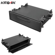 Kroak Universal Single Din CD Player Dash Radio Stereo Universal Car Storage For Pocket font b