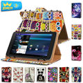 10.1'' Leather case For Alcatel Onetouch Pop 10/ Alcatel Onetouch pixi 3 Universal Cover,Printed Tablet Stand case For Alcatel
