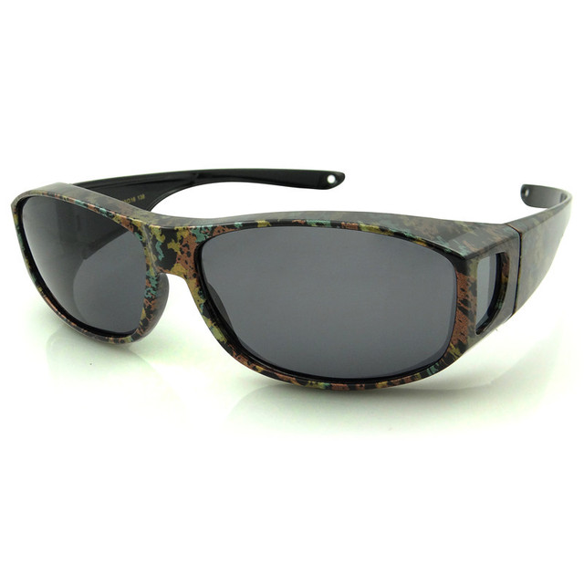 17a564e4b725 UV400 Polarized Sunglasses Fit Over Prescription Eye Glasses Fitovers Goggles  RX- Leopard Horizon Fit over Glasses Sunglasses