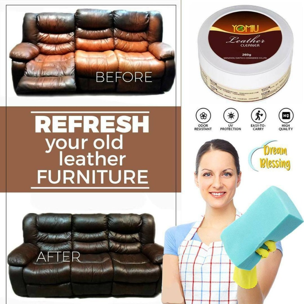 Multifunctional Leather Refurbishing Cleaner Car Seat Sofa Leather Cleaning Cream All-Purpose Leather Repair Conditioner