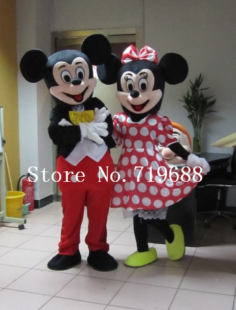 Hot Penjualan Dewasa Party Dress Versi Minnie Kostum Maskot Pink - Kostum - Foto 1