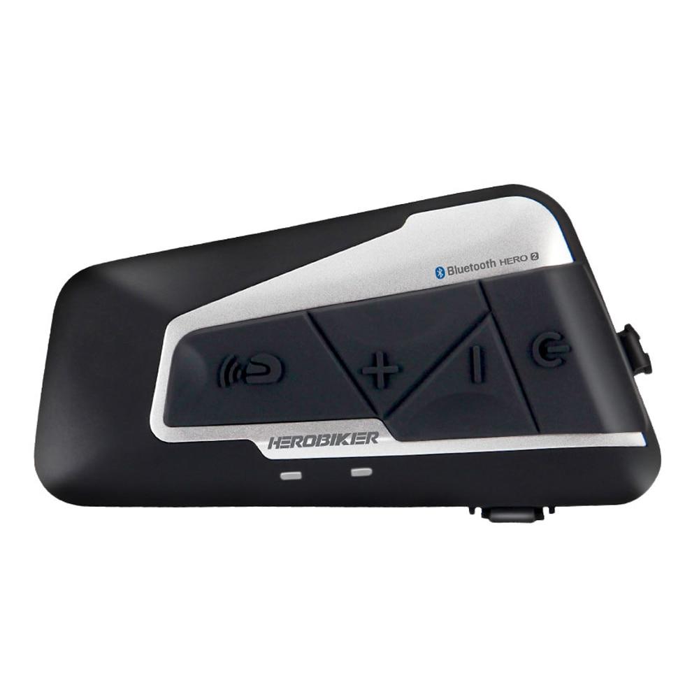 Image 2 - HEROBIKER/комплект из 2 предметов, 1200 м, BT, мотоциклетный  шлем, домофон, водонепроницаемый, беспроводной, Bluetooth, мото  гарнитура, переговорное устройство, fm радио, для 2 поездокmotorcycle  helmet intercommoto headsethelmet intercom -