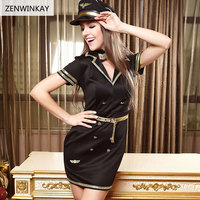 Female Porno Sex Clothes Slutty Sexy Police Costumes for Women Role Play Lingerie Sexy Cosplay Dress 4 Pieces Set