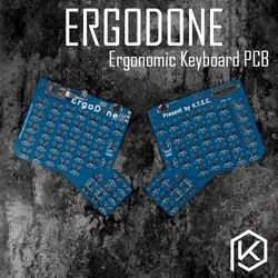 Ergodid إرجو لوحة المفاتيح الميكانيكية المخصصة TKG-TOOLS ثنائي الفينيل متعدد الكلور مبرمجة طقم لوحة مفاتيح مريحة مماثلة مع إنفينيتي ergodox