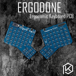 Ergodone Ergo Custom Keyboard Mekanik TKG-TOOLS PCB Diprogram Ergonomis Keyboard Kit Terjemahan dengan Infinity Ergodox