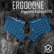 Ergodone ergo niestandardowa klawiatura mechaniczna TKG TOOLS PCB zaprogramowany ergonomiczny zestaw klawiatury podobny do infinity ergodox
