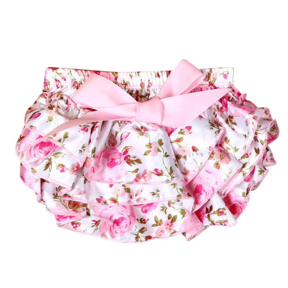 Newborn Baby Girls Nappy Bowknot Underwear Panty Diaper Clothes Kids Bloomer Outfit 0-12M