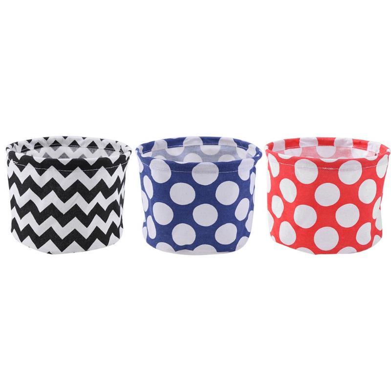 Cotton Linen Foldable Cosmetic Storage Box Desktop Makeup Jewelry Holder Underwear Sock Organizer Cabinet Basket