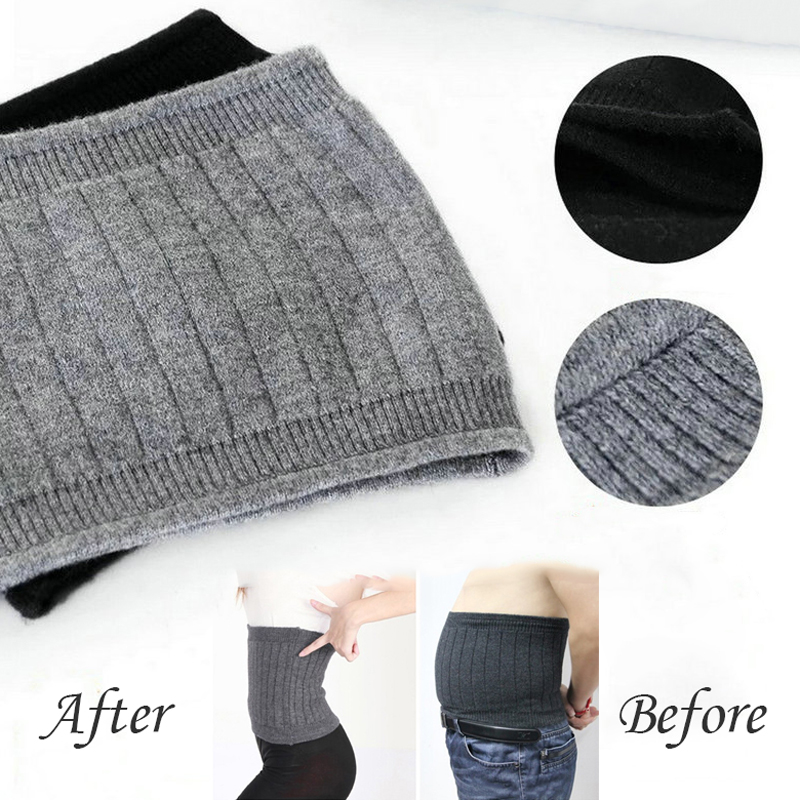 Breathable Women Men Cashmere Wool Comfortable Bodybuilding Waist Support Warmer Fitness Belts Waist Brace Guard Protector