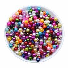 Quente 6/8mm acrílico redondo espaçador solto pérola contas para descobertas jóias fazendo diy pulseira colar brincos acessórios de jóias