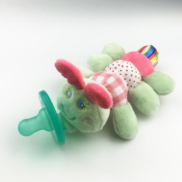 Милая Детская плюшевая игрушка, соска для новорожденных мальчиков и девочек, мультяшная Соска-пустышка Силиконовая пустышка, соска, аксессуары для кормления - Цвет: Caterpillar