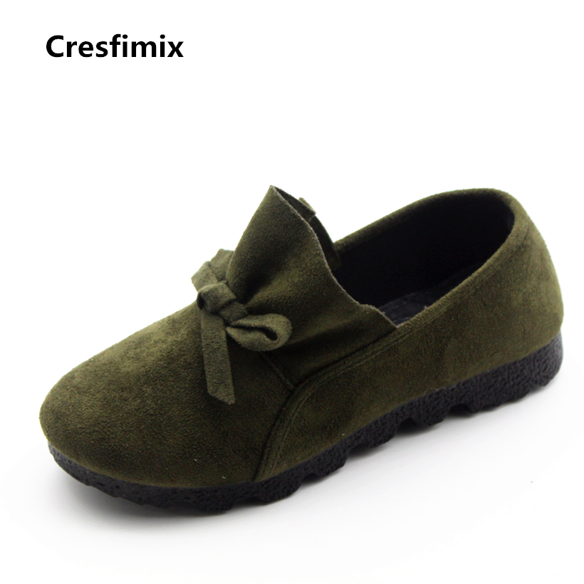 Cresfimix zapatos de mujer women casual plus size retro flat shoes lady leisure spring & summer slip on loafers female shoes cresfimix zapatos de mujer women fashion pu leather slip on flat shoes female soft and comfortable black loafers lady shoes