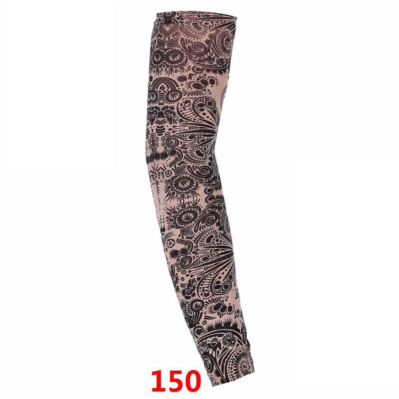 1 Pcs 2019 Hot Cycling Sports Tattoo UV Cool Arm Sleeves Cycling Running Arm Warmer Sport Elastic Oversleeve Arm Warmers Pakistan