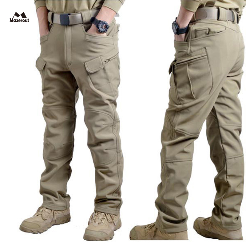 MAZEROUT Men Winter Waterproof Hunting Tactical SharkSkin Softshell Military Pant Outdoor Trousers Army Hiking Camping 3XL