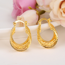 Bangrui Top Quality Gold Color Ear Hook Stud Earrings Jewelry For Men Women Ladies Promotion Wholesale
