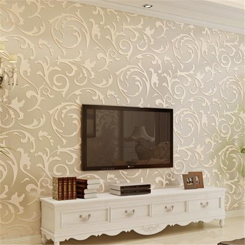 beibehang  Embossed Flocking Wallpaper roll Classic Vintage Floral Pattern Wall Paper 3d Home Decoration Papel De Parede Roll beibehang papel de parede 3d non woven embossed flocking wallpaperdesign damask wall paper classic home decoration wall covering