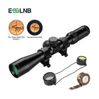 Riflescope 3 9x44 Tactical Rifle Scopes for Hunting with 2 Ring Mounts One Tube FMC Waterproof Airsoft Scope Bezel Less Design