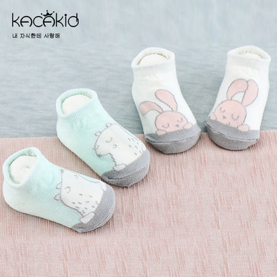 Kacakid spring kids cute cotton socks warm baby shoe socks, childrens favorite polar bear anti-skid socks, 2-4y