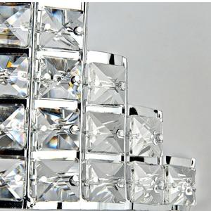 Image 3 - Роскошный современный минималистичный светодиодный настенный светильник, прикроватный комнатный хрустальный светильник для коридора, спальни, лампа для коридора