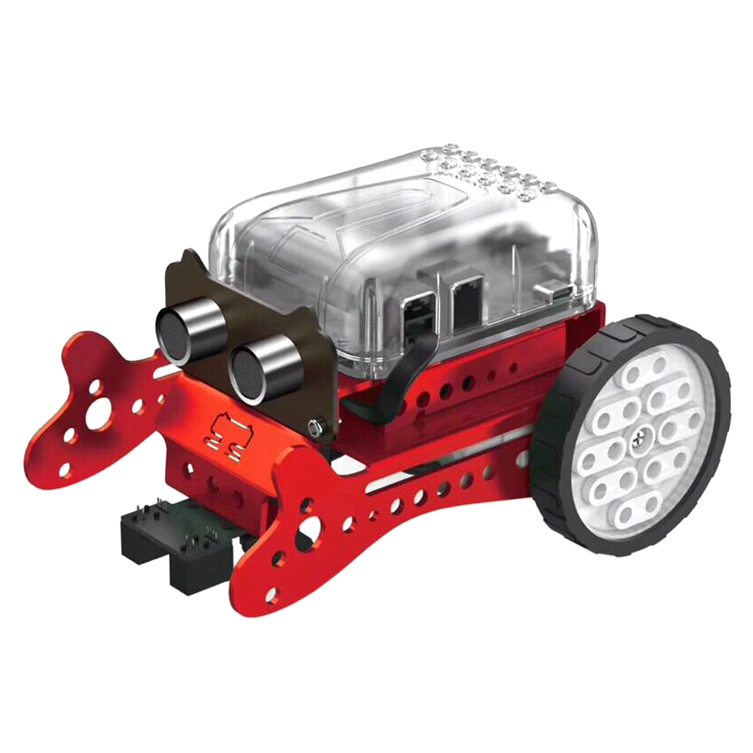Сделай Сам Нео Программирование царапина Интеллектуальный автомобиль избегания препятствий робот набор для детей подарок игрушка модель мини умный робот-зеленый красный - Цвет: Red