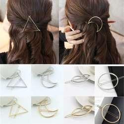 Для девочек Треугольники резинки с месяцем заколки для волос аксессуары для волос губ круглый ювелирные Заколки Для женщин Шпильки Глава