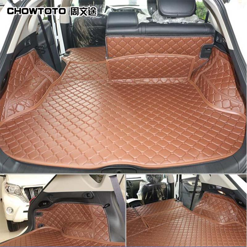 CHOWTOTO AA Custom Trunk Mats For Infiniti QX50 QX60 QX70 FX50 Easy To Clean Waterproof Boot Carpets For QX50 Lagguge Pad
