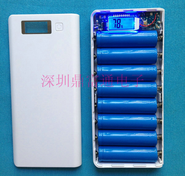 (no battery) DIY Power Bank BOX with circuit board LED display suit for 8*18650 37V Li ion