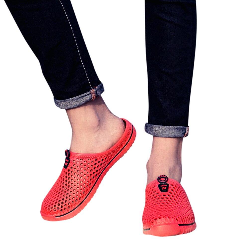 Стелька материал:: Ева; кожаные мужские сандалии; мужской свитер;