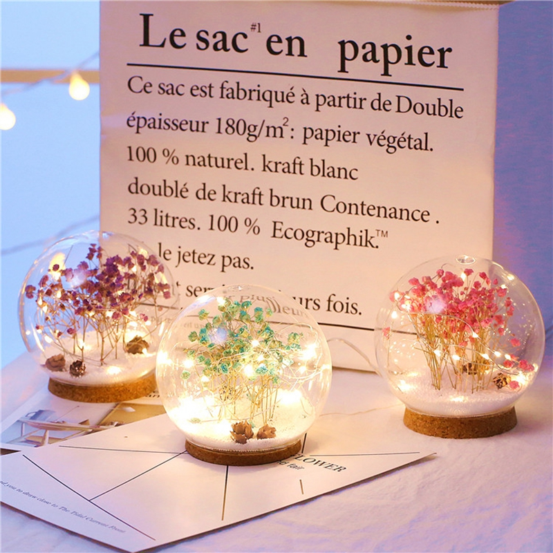 Creative LED Crystal Ball Design Table Lamp Room Decor Bedside Night Light For Girls Baby New Year Christmas Birthday Gift (4)