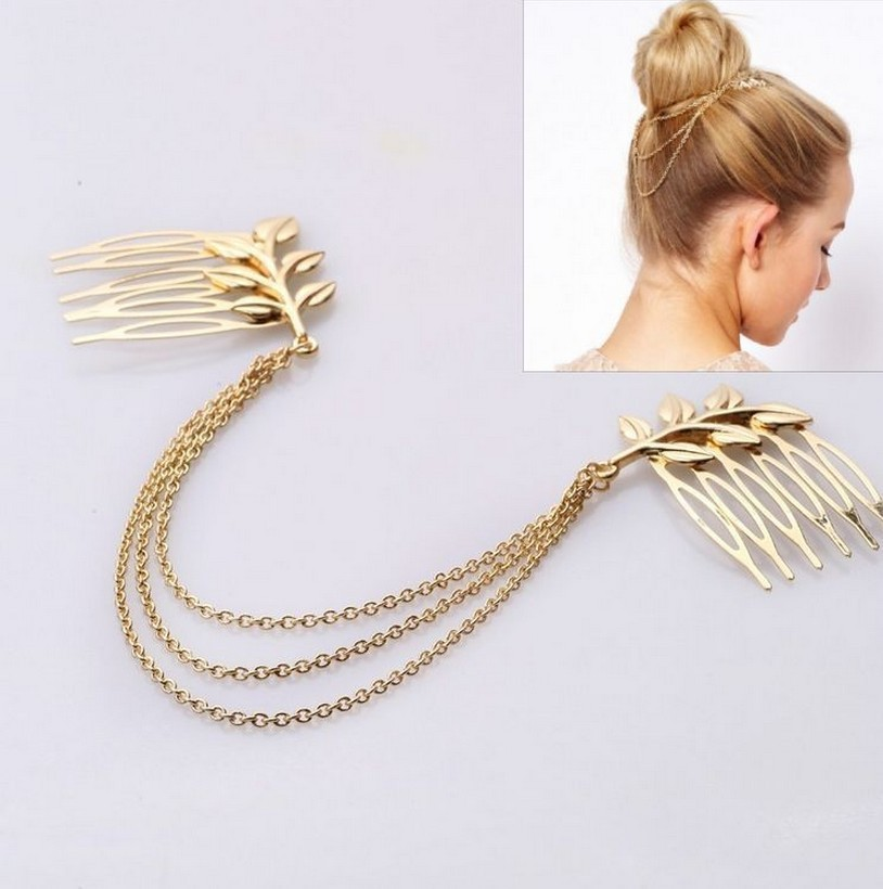 Indian Hair Jewelry Chinese Goods Vintage Combs Grecian Leaf Accessories For Women Head Chain Cf024 In From