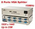1 PC para 8 Port VGA SVGA LCD Monitor CRT 8 Portas VGA Splitter 25 M 1920x1440
