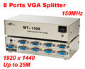 1 PC to 8 Port VGA SVGA LCD CRT Monitor 8 Ports VGA Splitter 25M 1920x1440