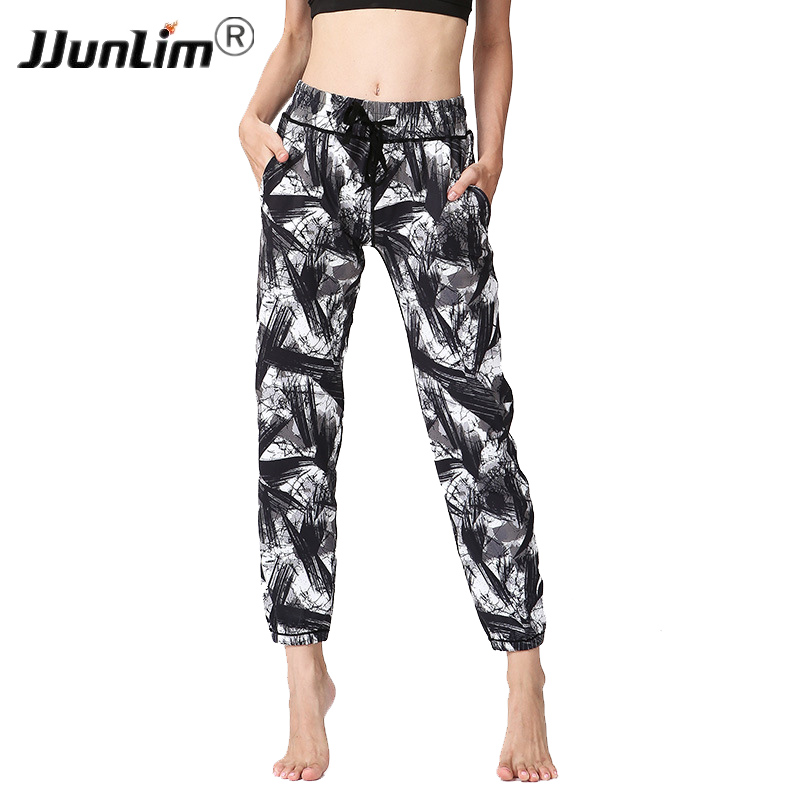 Printed Women Yoga Pants High Waist Sports Yoga Pants Workout Fitness Sports Trousers Women Yoga Trousers Loose Running Pants brand men sports pants male fitness workout active pants sweatpants trousers jogger basketball running pants