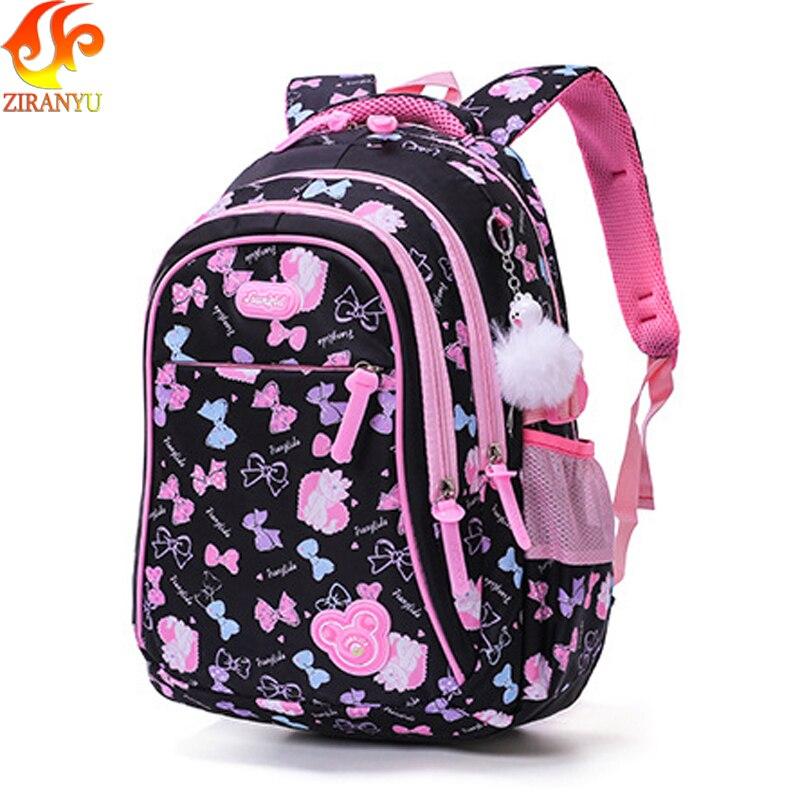 ZIRANYU School Bags Children Backpacks For Teenagers Girls Lightweight Waterproof School Bags Child Orthopedics Schoolbags