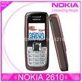 Reformado Nokia 2610 teléfonos móviles originales interna 3 MB bar GSM los móviles envío gratis