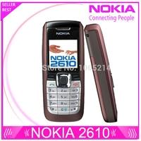 Refurbished Nokia 2610 original mobile phones internal 3MB GSM bar mobilephones free shipping