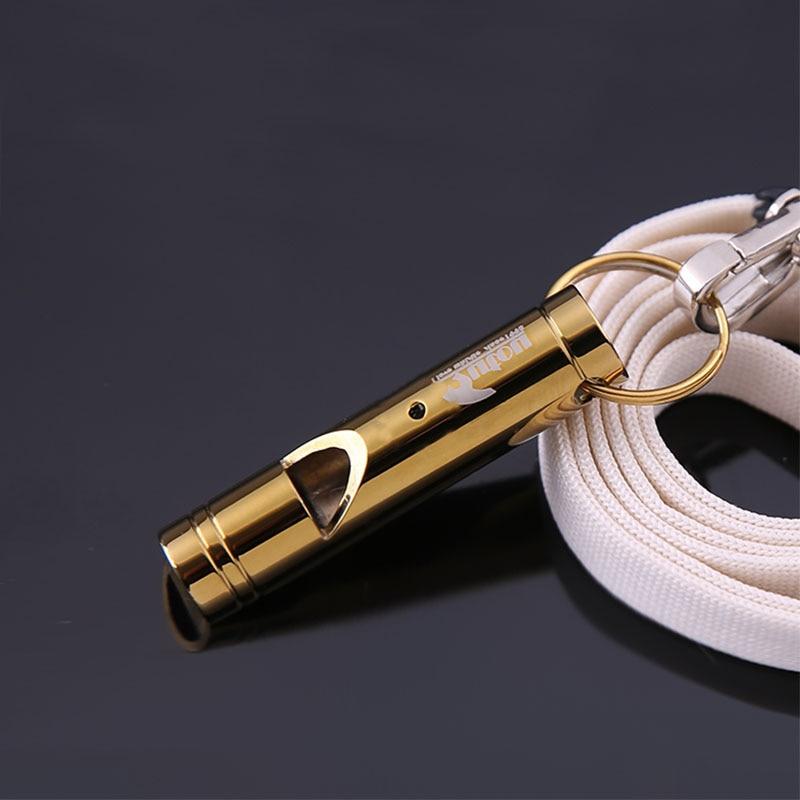 Bakri Metal U-kthehet Survival Outdoor Dog Whistle Dhe Trajnimi Zogj Whistle Laser Lettering Me Lanyard