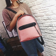 RU и br женские летние плетение цепочки рюкзак корейский Новый Дамы Простой Рюкзак личность тенденция Путешествия Повседневная сумка