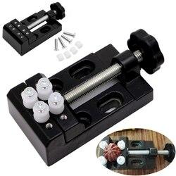 1pc czarny szczęki zacisk roboczy wiertarka naciśnij imadło mini klip płaskie imadło narzędzia ręczne diy