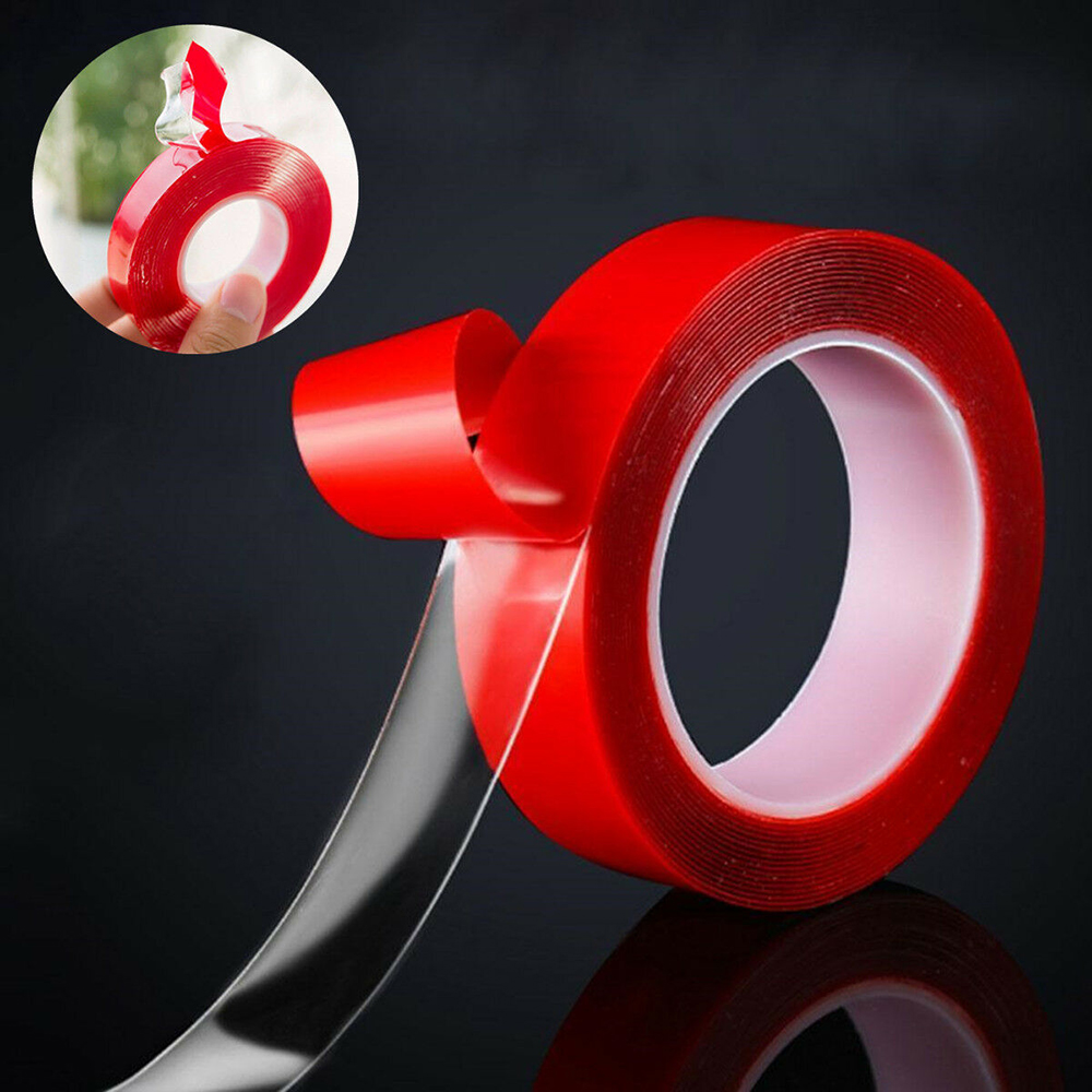 Red Film Double-sided Adhesive Tape Transparent Acrylic Super Sticky Double Side Tapes