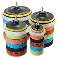 7 Pcs 3/5/6/7 de Polegada de Polimento Enceramento Polimento Pad Esponja Kit Set para Polidor de Carro loja 47