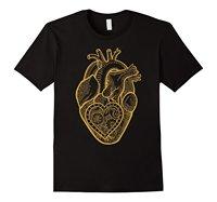 Anatomiczne Serca Bawełniane T-Shirt Prawdziwe Serce Sztuki Unikalny Pomysł Na Prezent wzrost Jakości Mężczyzna T Koszula Top Tee 100% Bawełna Humor mężczyźni