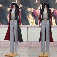 Customize Anime One Piece Dracule Mihawk Hawkeye Suit Uniform Full Set Jacket Pants Hat Belt
