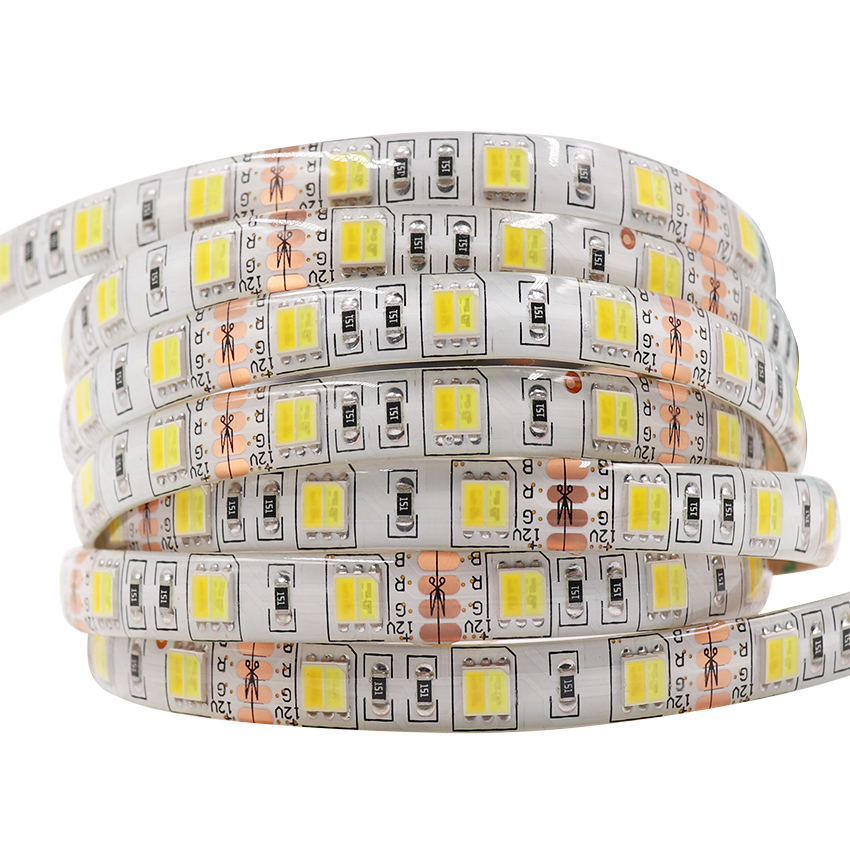 2 colors in 1 led 5050 LED Strip Dual White 5630 CW/WW CCT color temperature 5m LED tape Lights 12V Non waterproof Free shipping free shipping waterproof ip65 led panel 600x600mm high bright led chips with led driver ww nw cw color temperature aluminum pmma