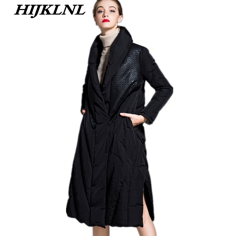 2019 New Hot Women Winter Down Coat Loose Large Size Solid Long Down Jacket Women Thicken Coat Fashion Warm Outerwear CW062