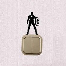 Interruptor de parede de vinil, super herói, decoração, decalque de luz, adesivo para quarto 5ws1168