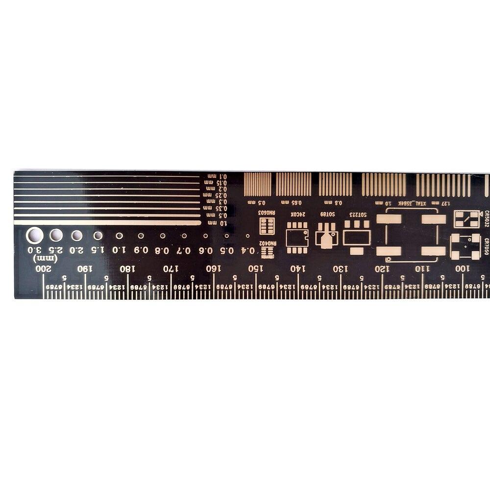 Image 4 - 10 шт. многофункциональная линейка PCB EDA измерительный инструмент Высокая точность транспортир 20 см черныйtool ionprotractor angletool money  АлиЭкспресс