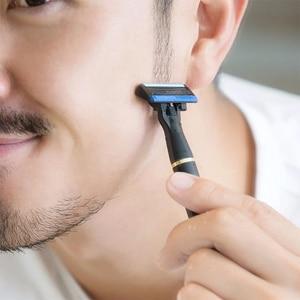 Image 4 - Original Youpin H600 Razor 6 layer Germany Solingenn Blade Manual Razor Magnetic Shavings Replaceable Shaver  for Men Women